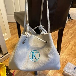 """""""K"""" bag with pouch inside"""